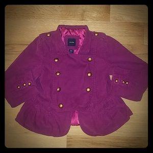 Toddler 5 Years Sz babyGap Purple Courdoroy Jacket